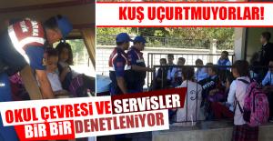 Jandarma Ekipleri Okul Çevresi ve Servislerini Denetledi