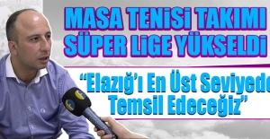 Masa Tenisi Takımı Süper Lige Yükseldi