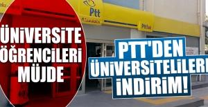 PTT'den Üniversitelilere İndirim!