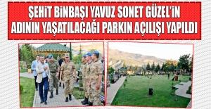 Tunceli'de Şehidimizin Adının Yaşatılacağı Parkın Açılışı Yapıldı
