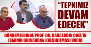Türk Ocakları'ndan Prof. Dr. Bahaeddin...