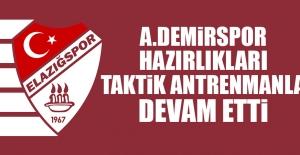 Adana Demirspor Hazırlıkları Taktik Antrenmanla Devam Etti