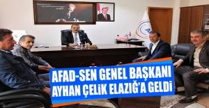 AFAD-Sen Genel Başkanı Çelik Elazığ'a Geldi