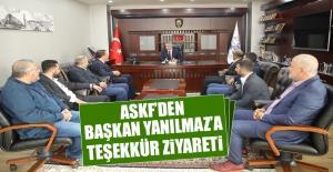 ASKF'den Başkan Yanılmaz'a Teşekkür Ziyareti