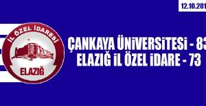 Çankaya Üniversitesi 83-73 Elazığ İl Özel İdare