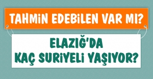 Elazığ'da Kaç Suriyeli Yaşıyor?