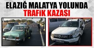 Elazığ Malatya Yolunda Trafik Kazası, Yaralılar Var