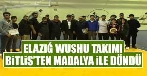 Elazığ Wushu Takımı Bitlis'ten Madalya İle Döndü