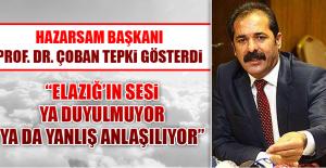 HAZARSAM Başkanı Prof. Dr. Çoban...