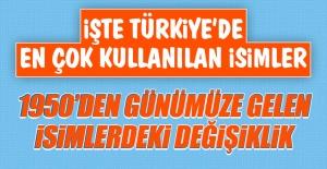 İşte Türkiye'de En Çok Kullanılan İsimler