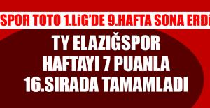 Spor Toto 1.Lig'de 9.Hafta Sona Erdi