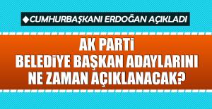 AK Parti belediye başkan adaylarını ne zaman açıklanacak?