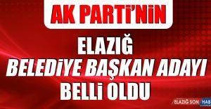 AK PARTİ ELAZIĞ BELEDİYE BAŞKAN...
