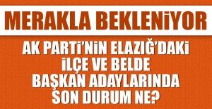 AK Parti'nin Elazığ'daki İlçe ve Belde Adaylarında Son Durum