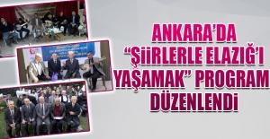 """Ankara'da """"Şiirlerle Elazığ'ı Yaşamak"""" Programı"""
