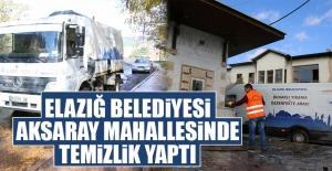 Elazığ Belediyesi Aksaray Mahallesinde Temizlik Yaptı