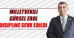 Milletvekili Gürsel Erol, Disipline Verildi