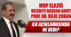 Prof. Dr. Bilal Çoban, Adaylığının...
