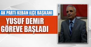 AK Parti Keban İlçe Başkanı Demir, Görevine Başladı