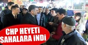 CHP Heyeti, Sahalara İndi