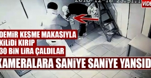 Demir Kesme Makasıyla Kilidi Kırıp...