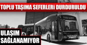 Elazığ'da Otobüs Seferleri İptal Edildi