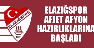 Elazığspor, Afyon Hazırlıklarına Başladı