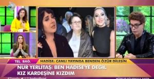 """Hadise'nin """"Özür Dilesin"""" Dediği Nur Yerlitaş, Canlı Yayında Af Diledi"""