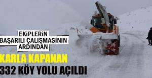 Karla Kapanan 332 Köy Yolu Açıldı