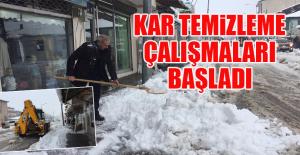 Karlıova#39;da Kar Temizleme Çalışmaları...