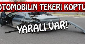 Kazada Otomobilin Tekeri Koptu