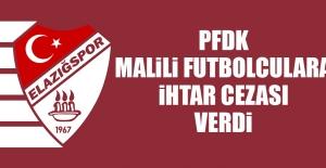 PFDK, Malili Futbolculara İhtar Cezası Verdi