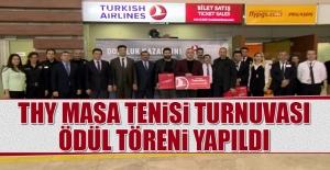 THY Masa Tenisi Turnuvası Ödül Töreni Yapıldı
