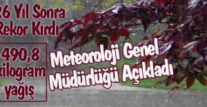 Türkiye'de 26 Yıl Sonra Günlük Yağış Rekoru Kırıldı
