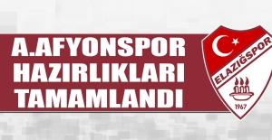 TY Elazığspor'da A.Afyonspor Hazırlıkları Tamamlandı