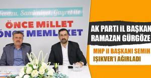 AK Parti İl Başkanı Gürgöze, MHP İl Başkanı Işıkver'i Ağırladı