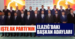 AK PARTİNİN ELAZIĞ ADAYLARI RESMEN...