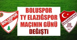 Boluspor-TY Elazığspor Maçının Günü Değişti