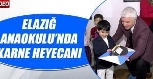 Elazığ Anaokulu'nda Karne Heyecanı