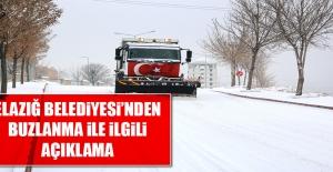 Elazığ Belediyesi#039;nden Buzlanmayla...