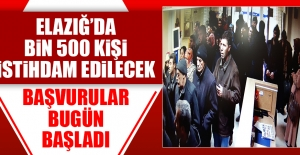 Elazığ'da Bin 500 Kişi İstihdam Edilecek