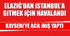 Elazığ'dan İstanbul'a Giden Yolcu Uçağı Kayseri'ye Acil İniş Yaptı
