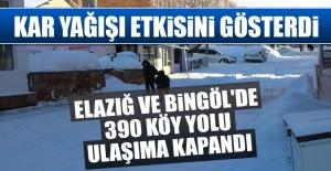 Elazığ ve Bingöl'de 390 Köy Yolu Ulaşıma Kapandı