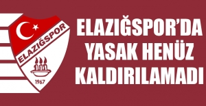 Elazığspor'da Yasak Henüz Kaldırılamadı