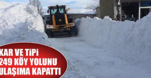 Kar ve Tipi 249 Köy Yolunu Ulaşıma Kapattı
