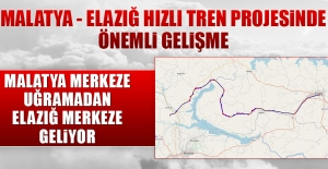 Malatya - Elazığ Hızlı Tren Projesinde Önemli Gelişme