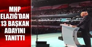 MHP Elazığ'dan 13 Başkan Adayını Tanıttı