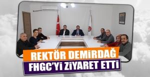 Rektör Demirdağ FHGC'yi Ziyaret Etti