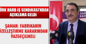 Türk Harb İş Sendikası'ndan Açıklama Geldi