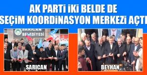 AK Parti İki Belde de Daha Seçim Koordinasyon Merkezi Açtı